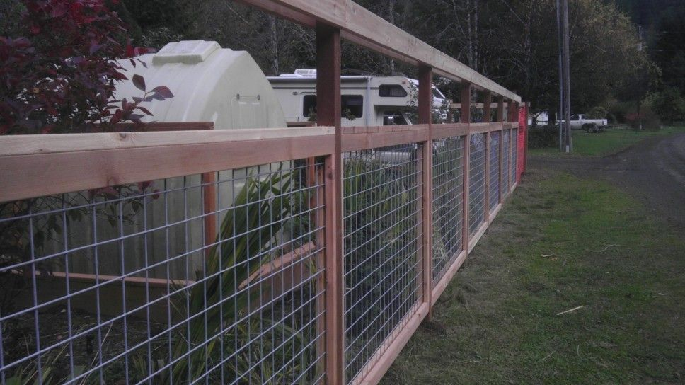 4x4 wire grid. Deer Fencing. Tide Water, OR - Black Diamond Fencing ...