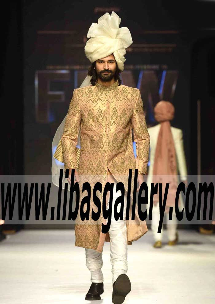 Jamawar Sherwani Suit for Groom 2016 2017 pure Jamawar Sherwani ...