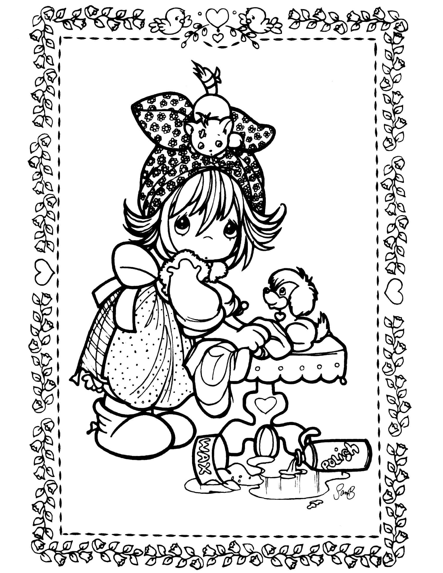 Precious moments coloring page boyama pinterest precious