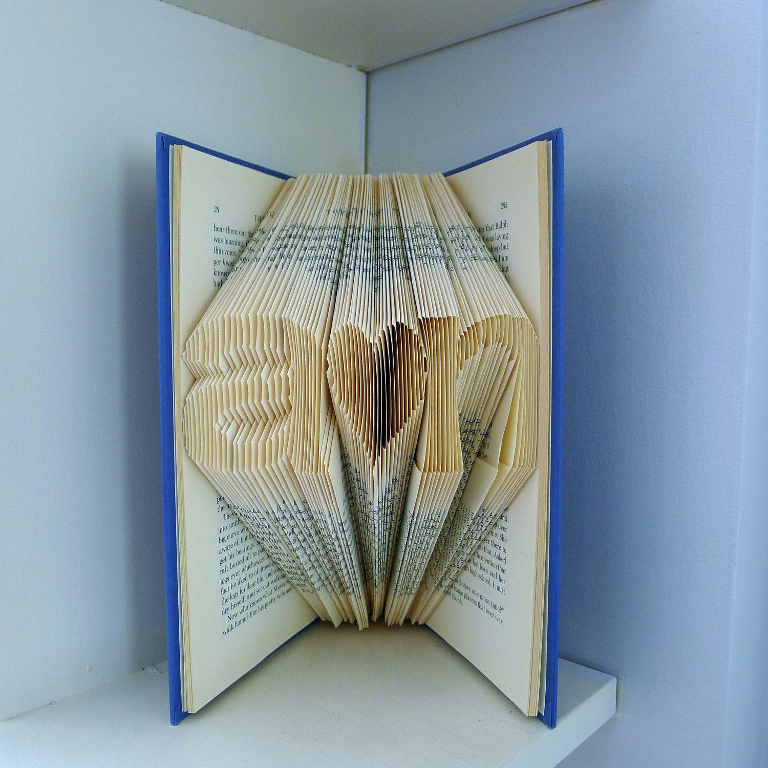 Paper Anniversary Gifts For Him Part - 43: First Anniversary Gift For Boyfriend - Paper Anniversary Folded Book  Sculpture Gift - Handmade - Gift