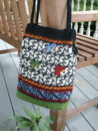 Birds of All Feathers Bag pattern by Mary Ann Stephens   Knit ...
