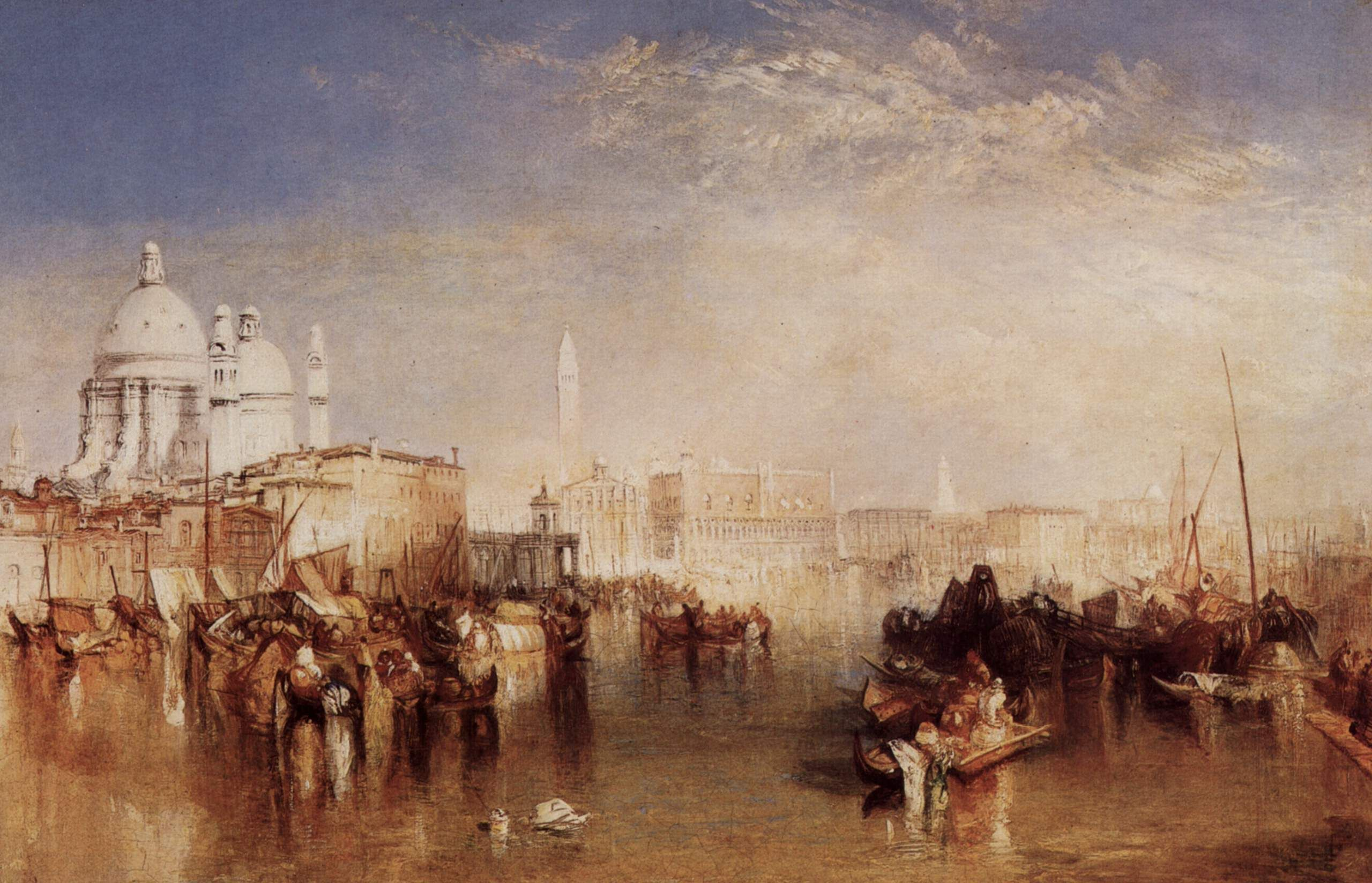 Venice San Guirgio From The Dogana Sunrise By Joseph William
