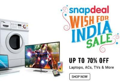 12df5edf69f Snapdeal Wish For India Sale   Upto 70% OFF