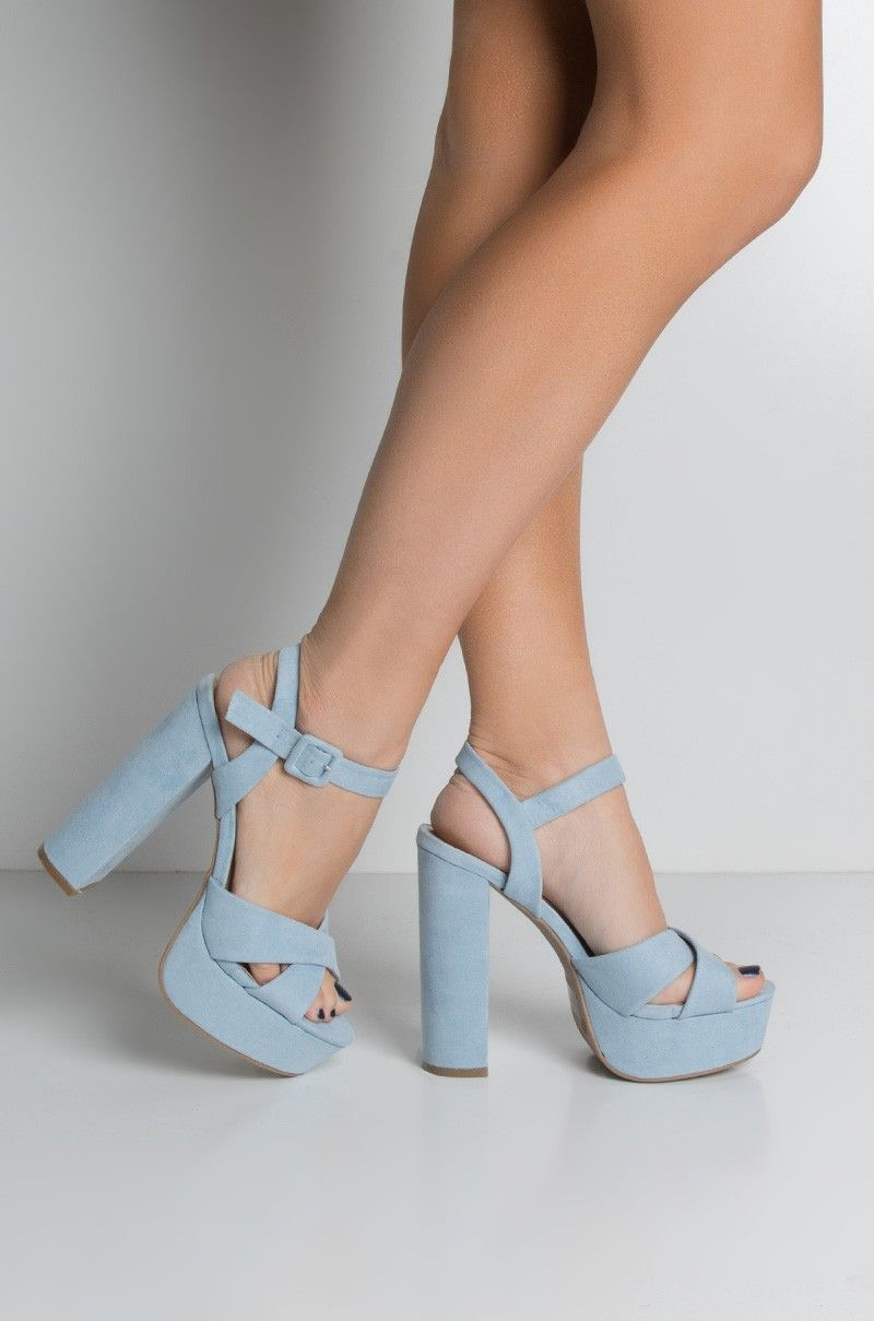 bb4421acbc7 Side View Give You All Of Me Platform Chunky Heel Sandals in Baby Blue