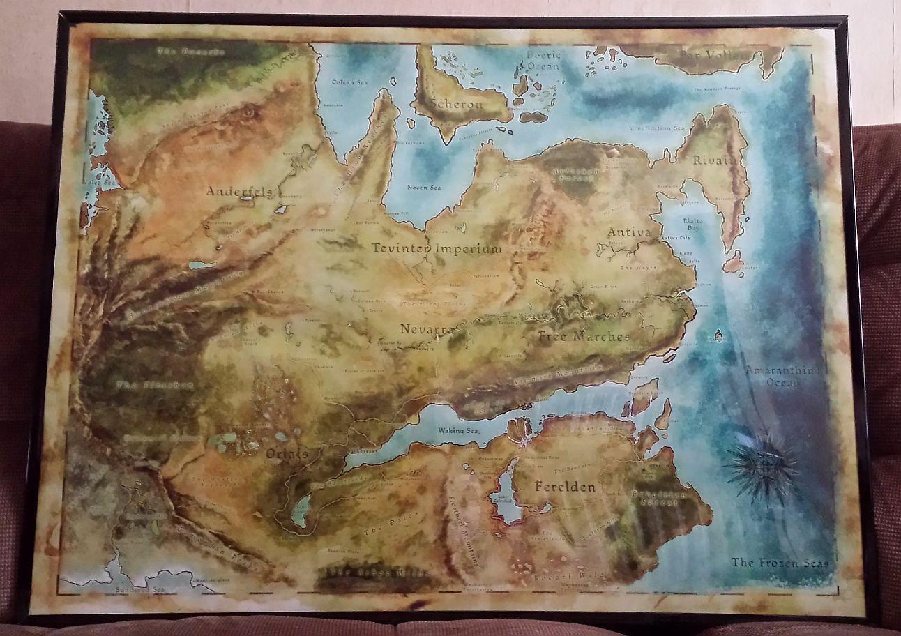 Dragon Age Map | Dragon age games, Dragon age, Art