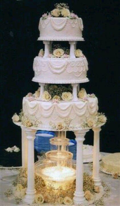 Water Fountain Cake Wedding Cakes Pinterest Wedding Cakes