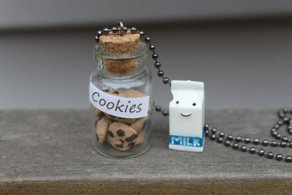 Polymer Clay Cookies and Milk Bottle Charm by AlixsCreativeCorner, $6.00