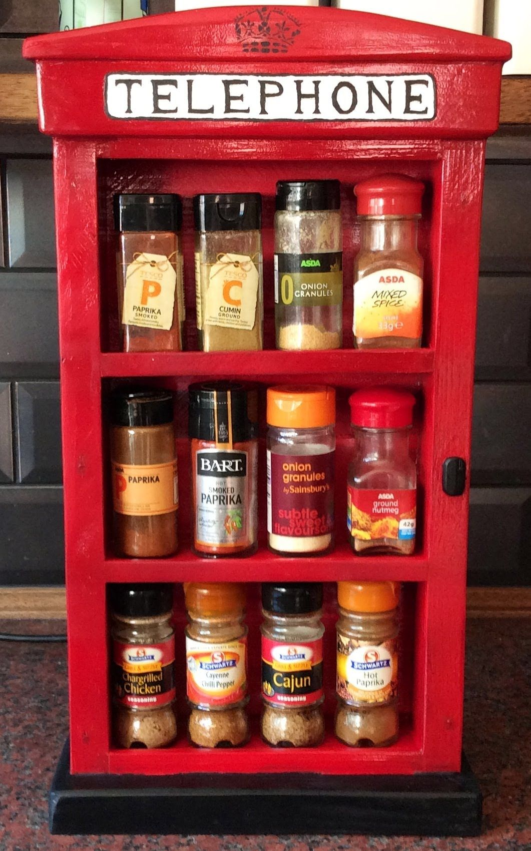 Old English Phone Box Spice Rack From A Single 2x4 Summers Woodworking Spice Rack Phone Box Woodworking