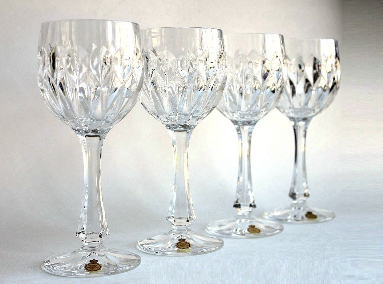 bleikristall 24 lead crystal german wine glass set. Black Bedroom Furniture Sets. Home Design Ideas