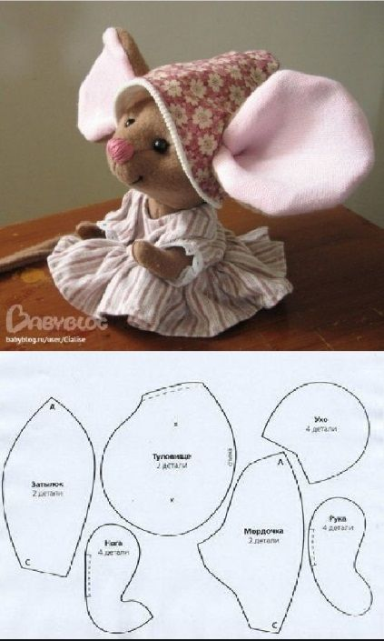 Как сшить мышку из ткани, своими руками? | Тряпичные куклы ...