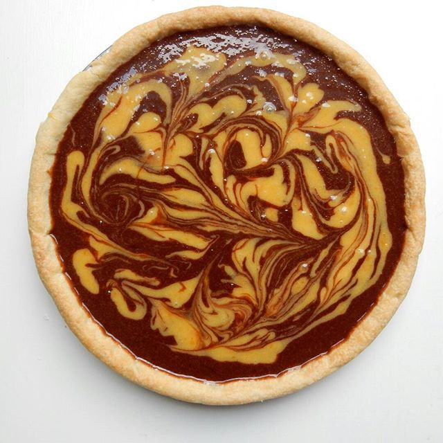 Chocolate orange Tart. Baked lovingly by Lucy and consumed very quickly by Lucy's family! Recipe from GBBO.