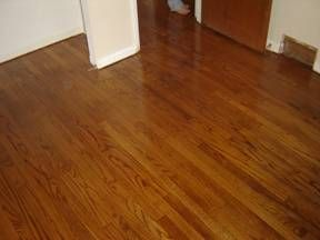 Unfinished Red Oak Stained Special Walnut Wood Floors