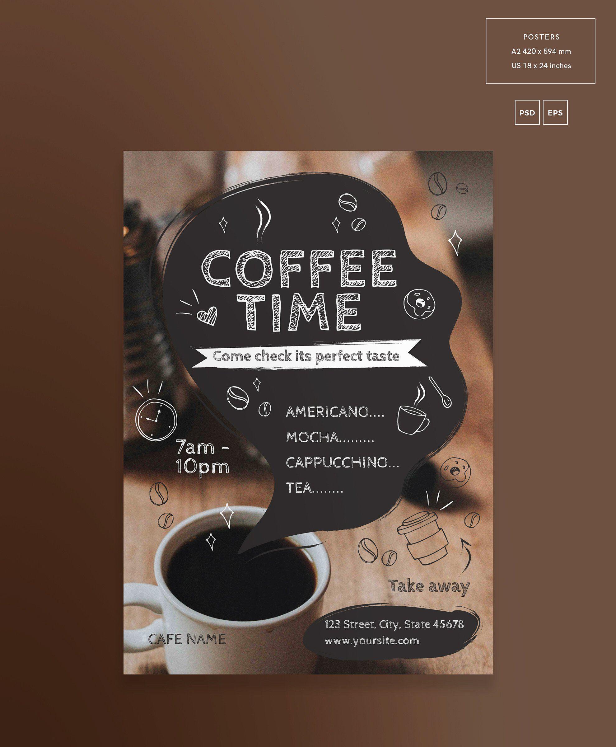 Posters | Coffee Time | Poster minuman, Kutipan kopi, Desain