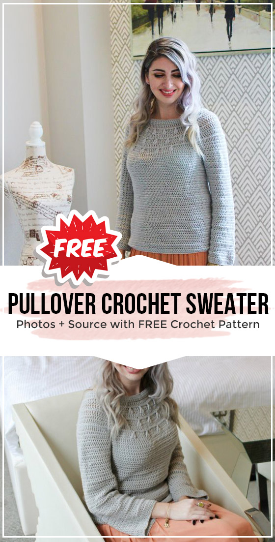 Photo of Free Pullover Crochet Sweater