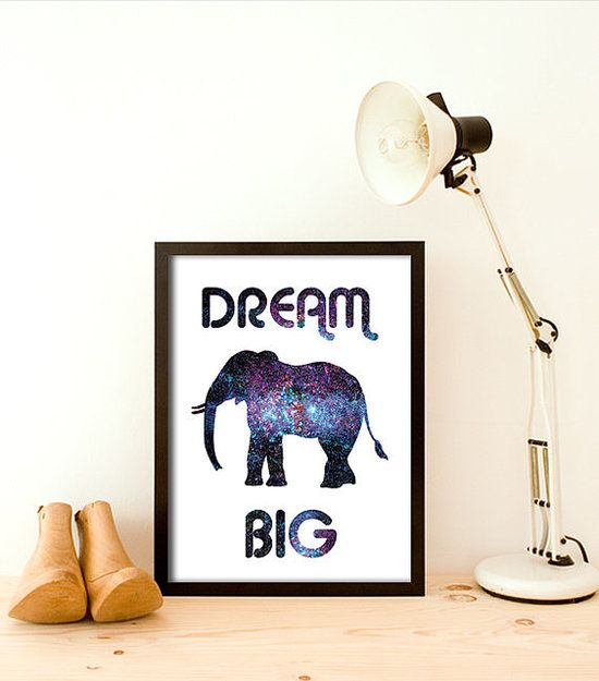 We love how the elephant on this print ($19) looks big enough to encompass the entire universe- 16 Inspirational Prints Pretty Enough to Frame