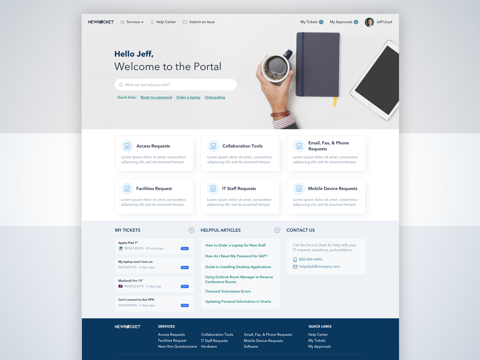 Servicenow Employee Service Portal With Images Portal Design