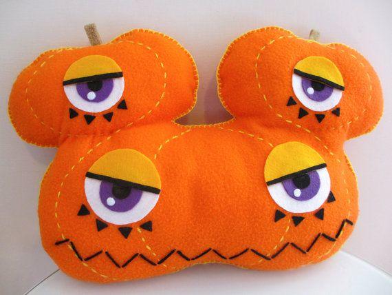 Halloween pumpkin, Jack o' lantern, plush toy made of fleece and felt