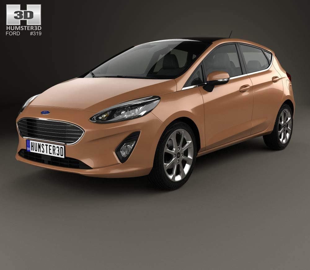 ford fiesta titanium 2017 3d model from ford. Black Bedroom Furniture Sets. Home Design Ideas