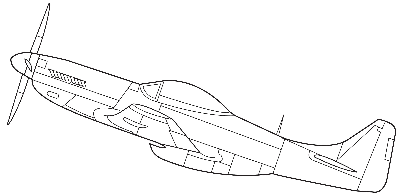 15 Mustang P51 Obrazek Pikseli
