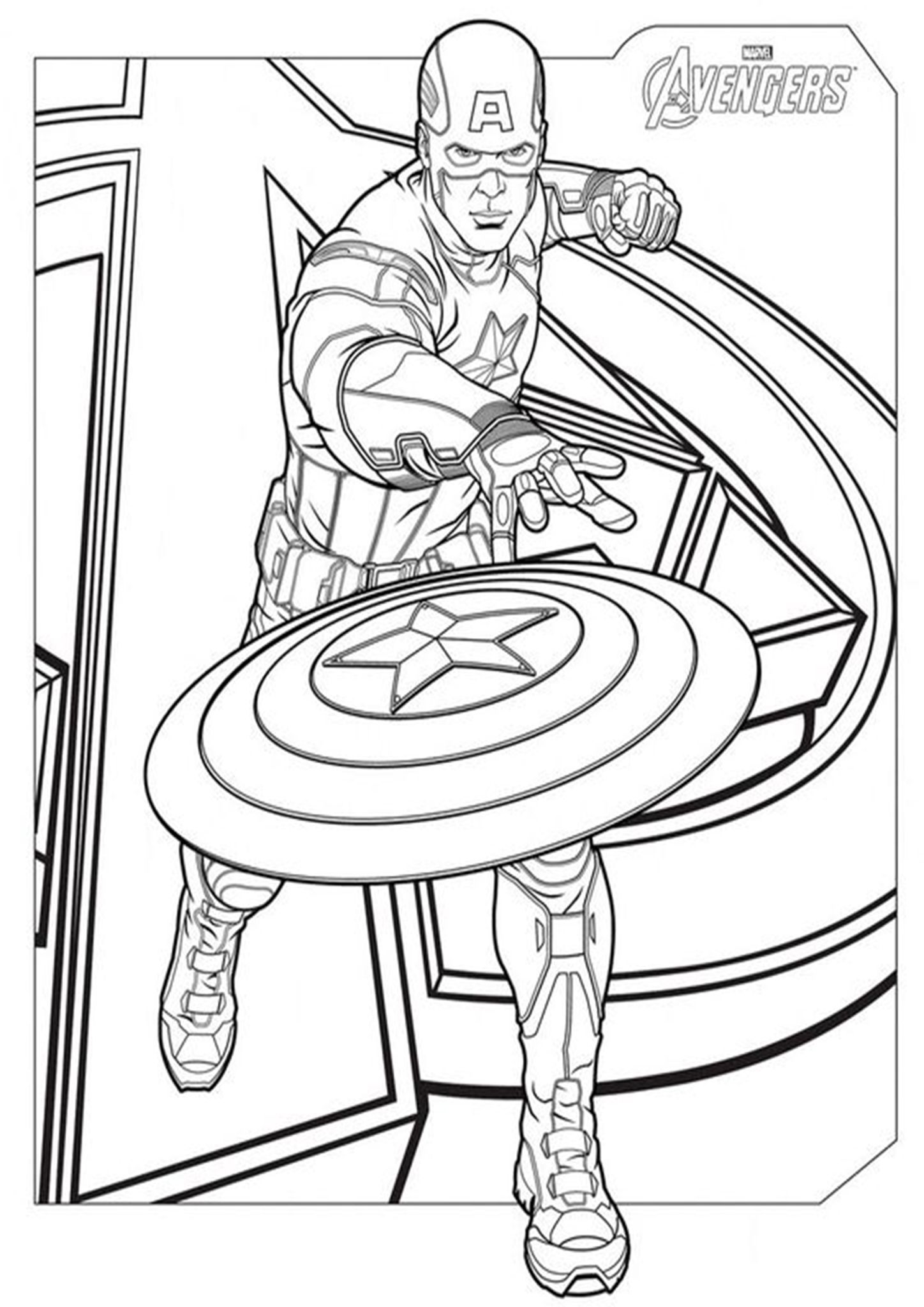 Free Easy To Print Captain America Coloring Pages Avengers Coloring Pages Avengers Coloring Captain America Coloring Pages