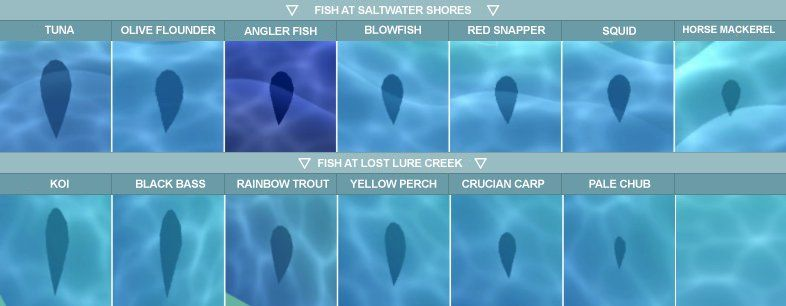 I Saw A Japanese Tweet That Showed The Current Fish Shadow Sizes For Each Fish In Animalcross Animal Crossing Pocket Camp Animal Crossing Fish Animal Crossing The olive flounder (ヒラメ, hirame) is a saltwater fish in the animal crossing series introduced in doubutsu no mori e+. fish shadow sizes for each fish