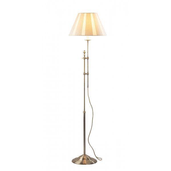 The Lighting Book Knightsbridge Antique Brass Traditional Standard Lamp With Images Standard Lamps Lighting Home Lighting