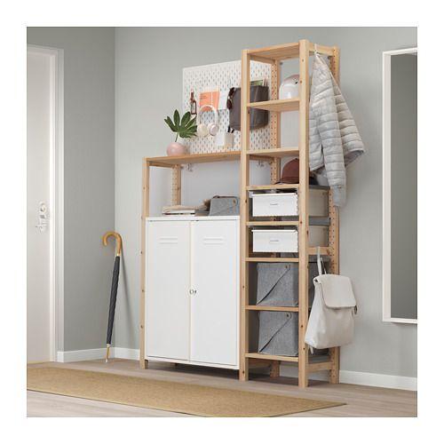 IVAR Schrank mit Türen, weiß | Küche | Pinterest | Ikea, Schränkchen ...