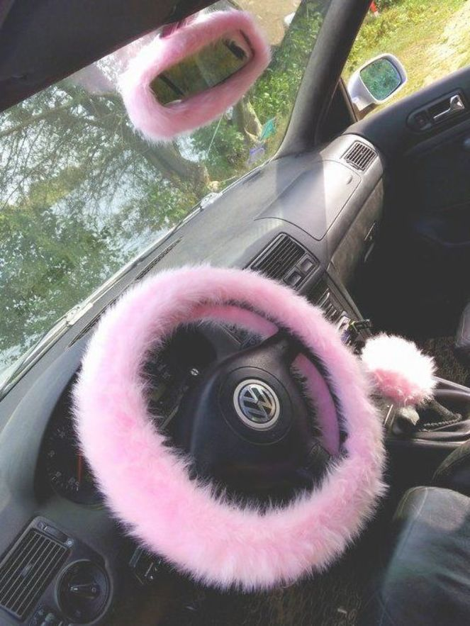 Pink Fuzzy Steering Wheel Cover Car Accessories Fuzzy Car Etsy Pink Car Accessories Car Accessories Steering Wheel Cover