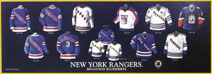 The History Of The Ny Rangers Jersey Rangers Rangers Hockey