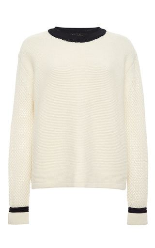 Cream wool blend mikeno sweater by TABULA RASA Now Available on Moda Operandi