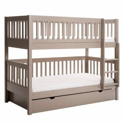 lits superpos s ampm diablotin gris taupe 599 tiroir lit 139 383 20 et 95 20 en brut. Black Bedroom Furniture Sets. Home Design Ideas