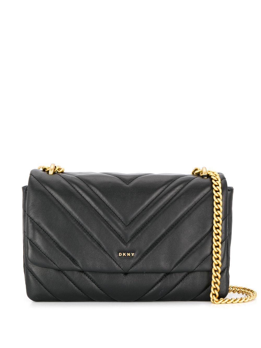Dkny Vivian Quilted Crossbody Bag In Black Modesens