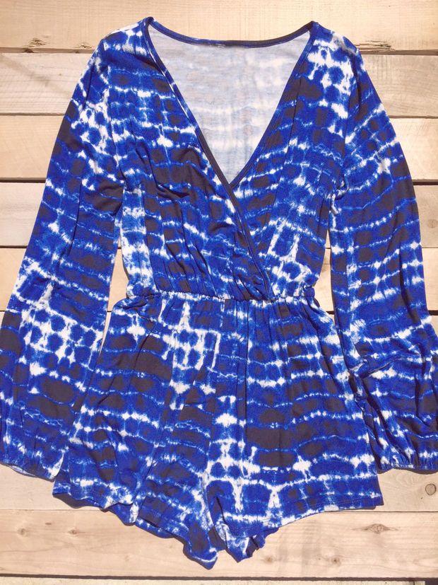 Blue Tie Dye Summer Romper | STYLE /// | Pinterest | Enterizos ...