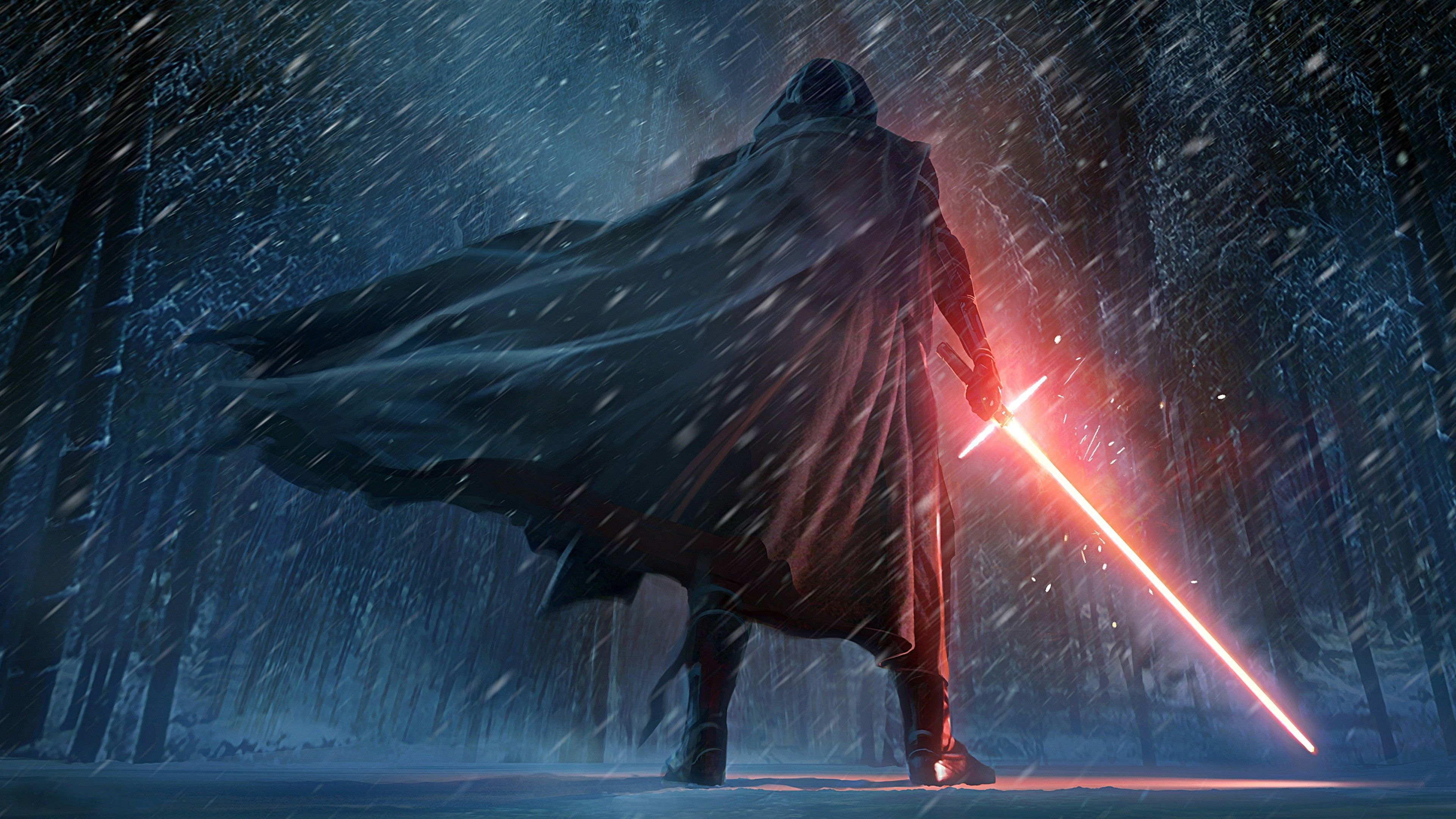 Kylo Ren Star Wars Episode 7 the Force Awaken Art 4k
