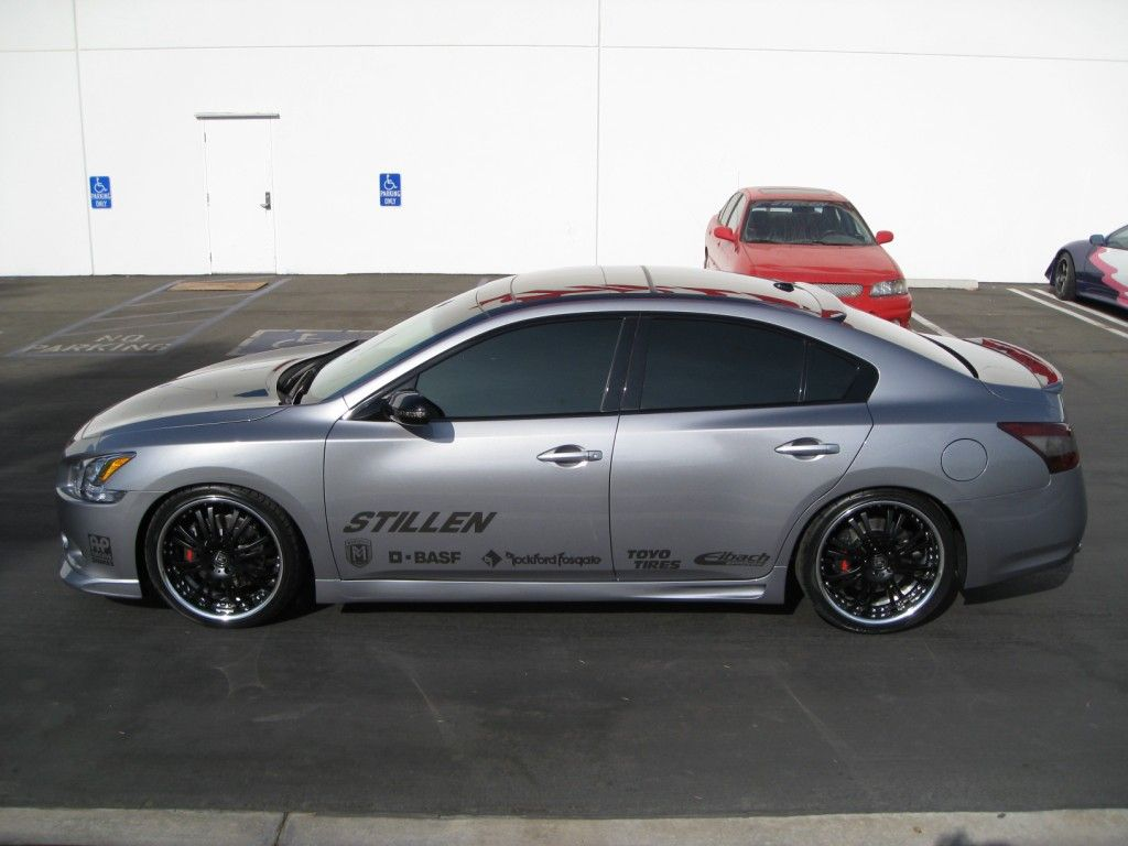 Check out our sema project car 2009 nissan maxima we ve just finished this beauty which includes a body kit exhaust brake kit more