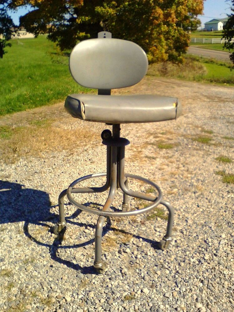 Fantastic Vintage Royal Metal Corporation Drafting Table Stool Chair Bralicious Painted Fabric Chair Ideas Braliciousco