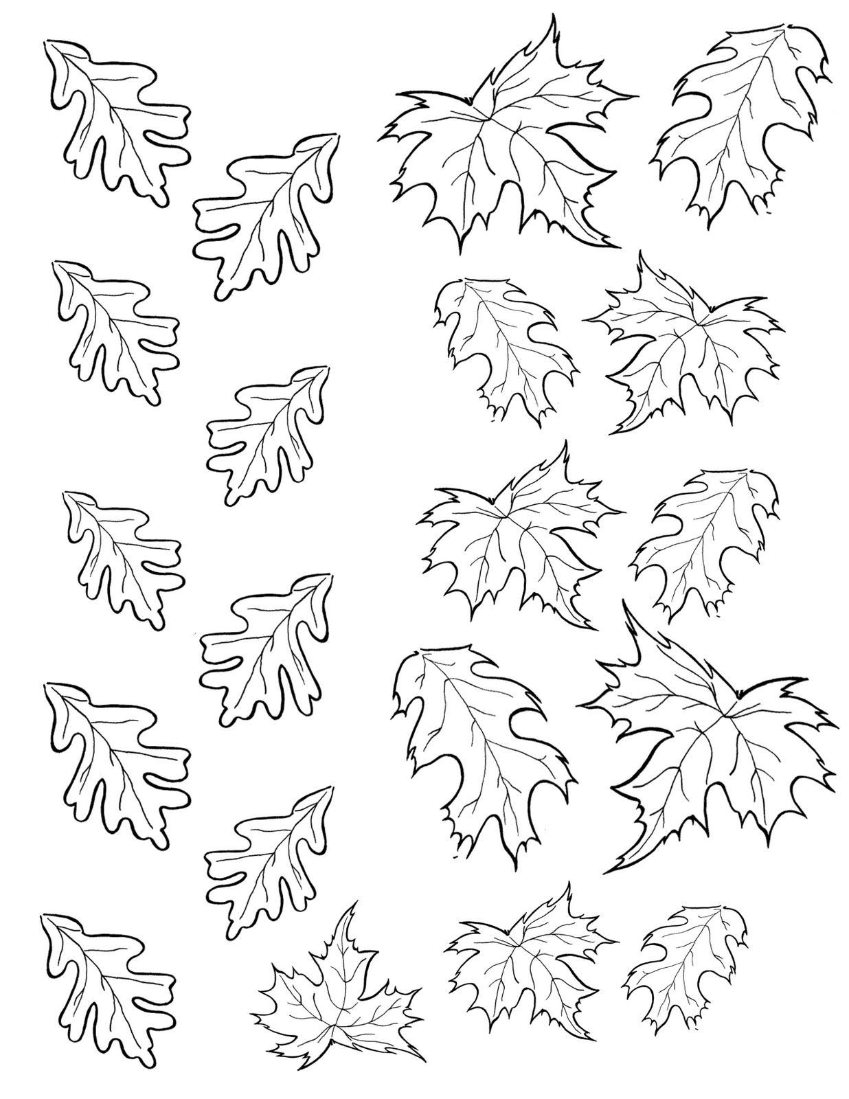 Leaf Printable Coloring Pages Leaves Coloring Coloring Pages