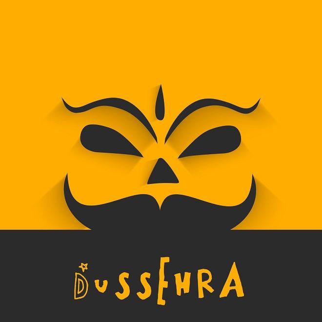 Vector beautiful orange and black dussehra concept ravana face vector beautiful orange and black dussehra concept ravana face greeting card vector illustration m4hsunfo