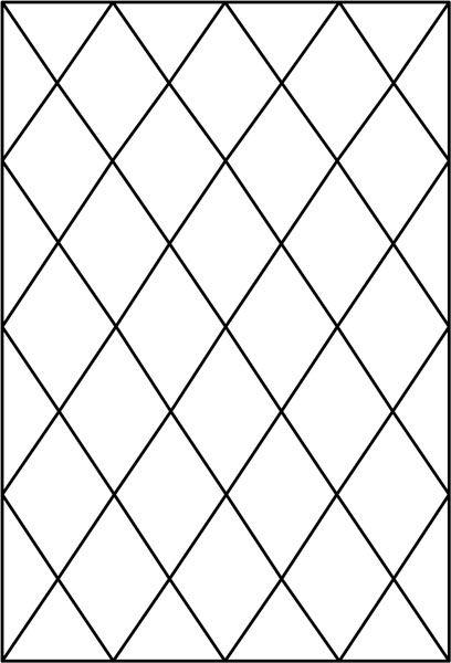 Diamond Tudor Window Pattern Decorative Window Film (With