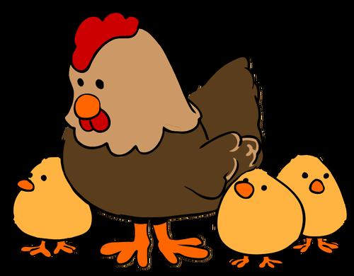 Tavuk Ve Civciv Karikatur Tarzi Animatie Kip Kleurplaten