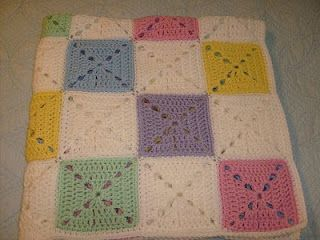 Manner's Crochet and Craft: Lullaby Blocks Afghan