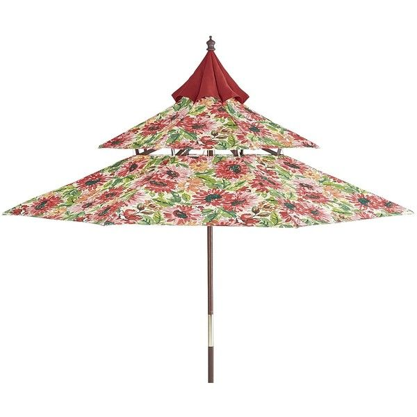 Pier 1 Imports Multi Colored Sun Floral Pagoda Umbrella ($150) ❤ Liked On  Polyvore Featuring Home, Outdoors, Patio Umbrellas, Multicolor, Multi  Colored ...