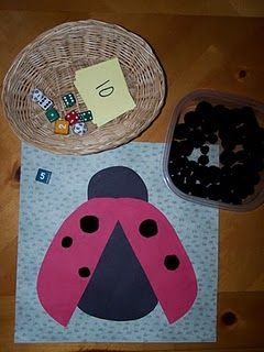 number recognition - ladybird dice game