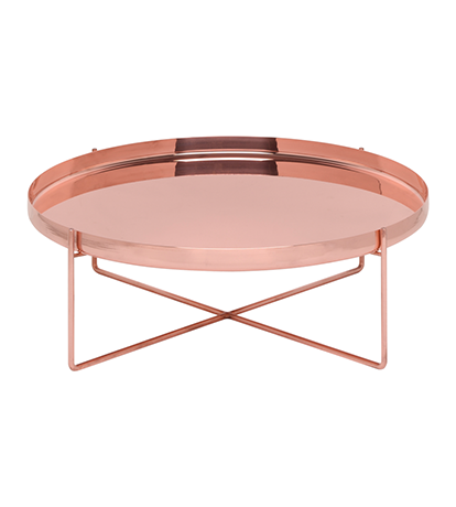 Habibi Side Table in Polished Copper | Living room shop, Living ...