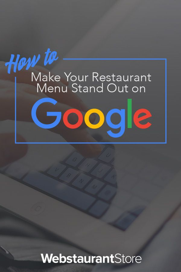 How to Make Your Restaurant Menu Stand Out on Google