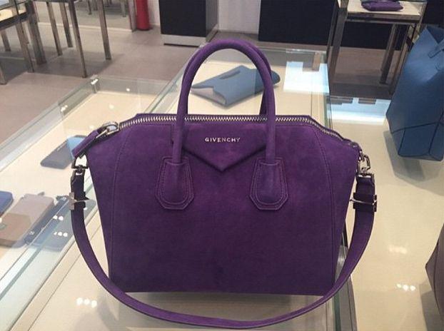 57e4fbf44c Street Snaps  Givenchy Antigona Suede Tote Bags