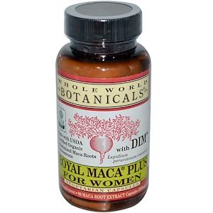 Whole World Botanicals كبسولات Royal Maca Plus للنساء 500 مجم 90 كبسولة نباتية Maca Veggie Caps Maca Root Powder