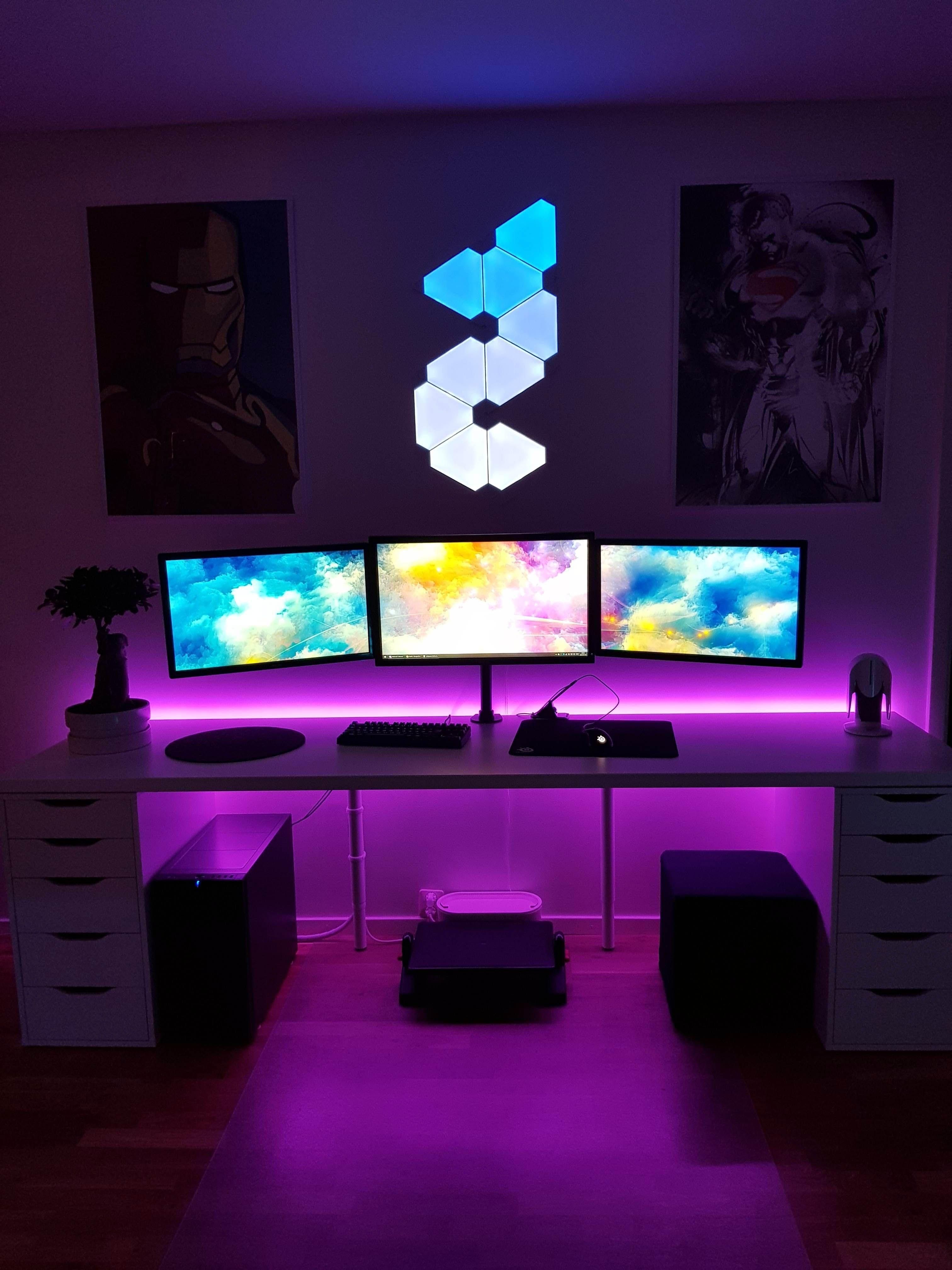 Diy Computer Desk Ideas Gamingsetup Spielaufbau Zocker Zimmer Spielzimmer Design