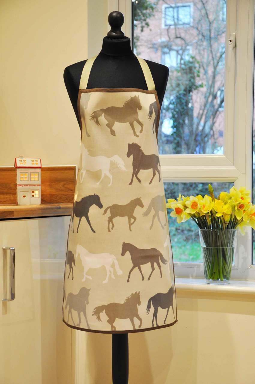 Horses Oilcloth Apron - Truly Crafted | for mom | Pinterest