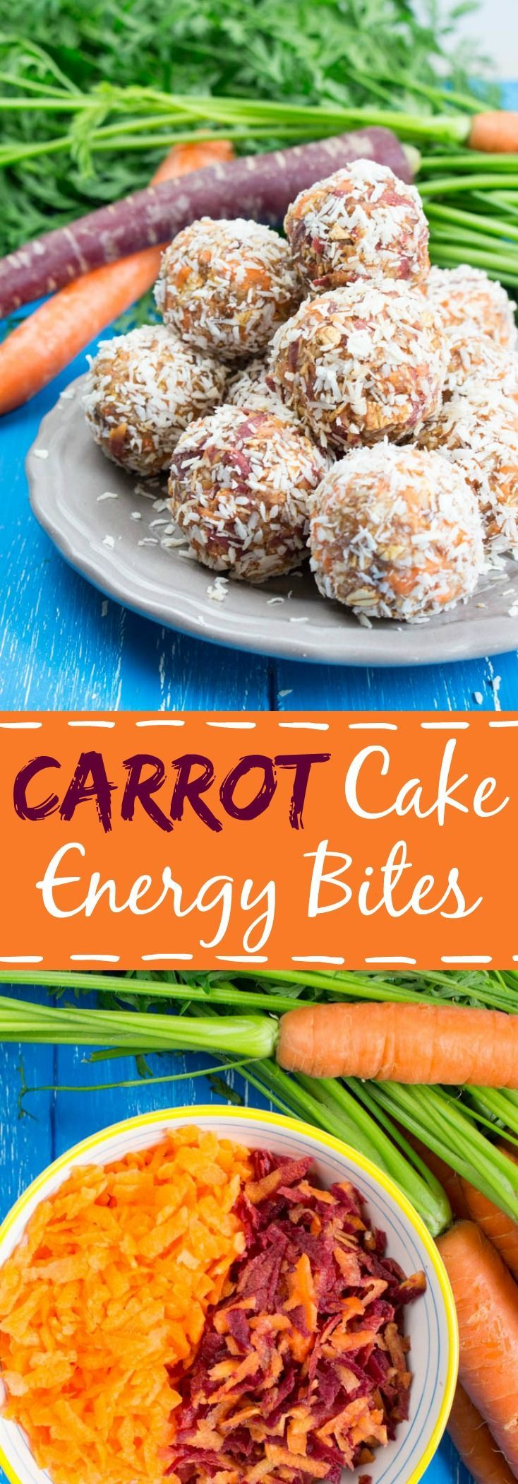 Carrot Cake No Bake Energy Bites with Cinnamon. So delicious and easy to make. The perfect treat!